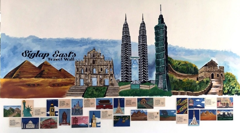 Siglap East's Walls of Inspiration, Travel Wall