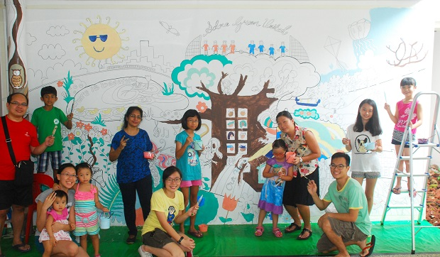 HDB Friendly Faces Lively Places Fund, co-creation of community mural with Adora Green's residents.