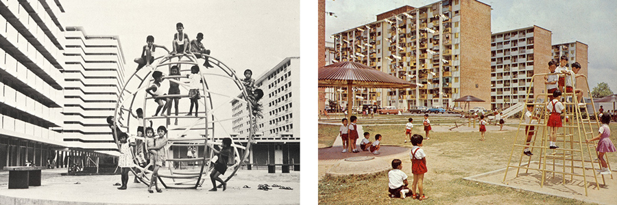 Metal play structures in the 1960s and 1970s